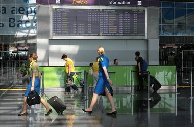 В аэропорту Борисполь образовались огромные очереди